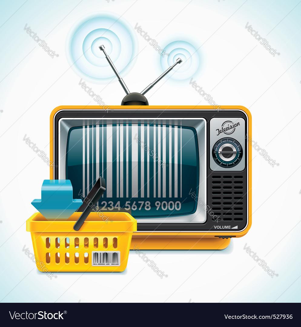 Vector tv shop xxl icon Vector Image