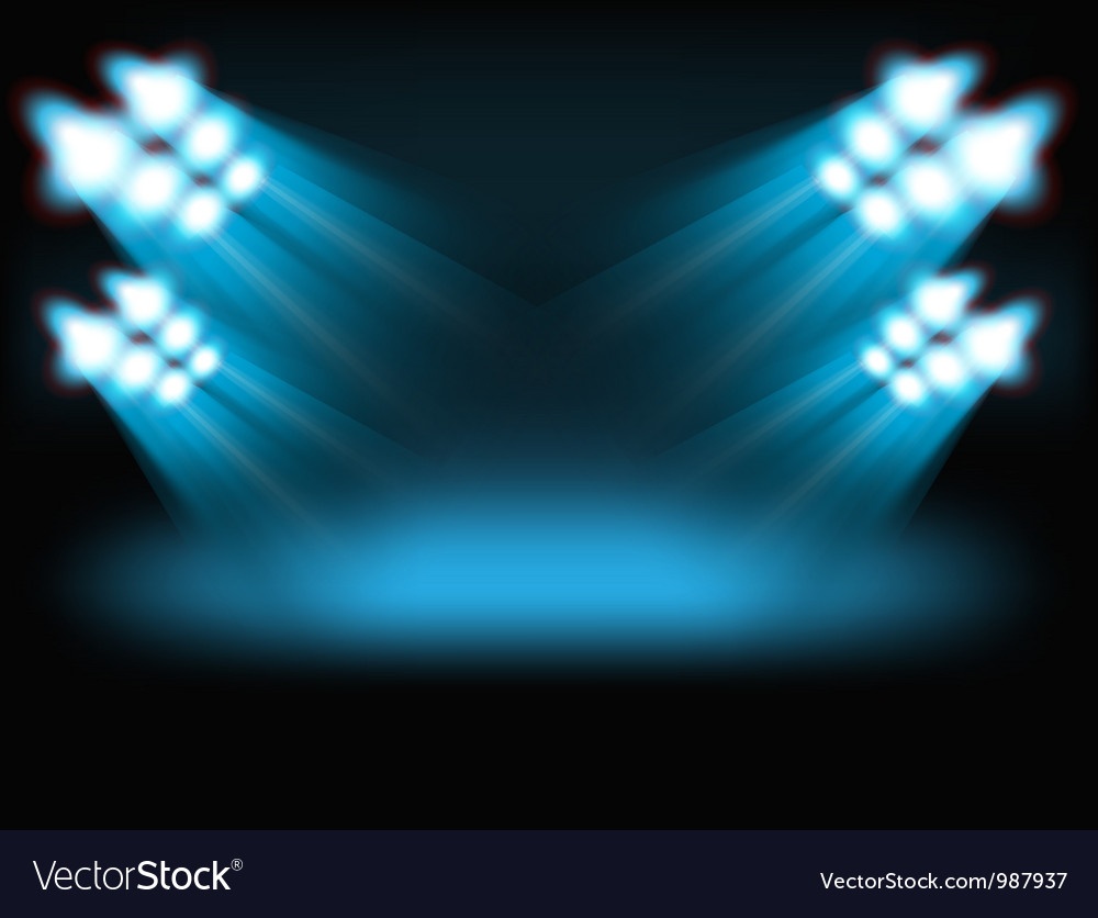 Bright spot lights vector image