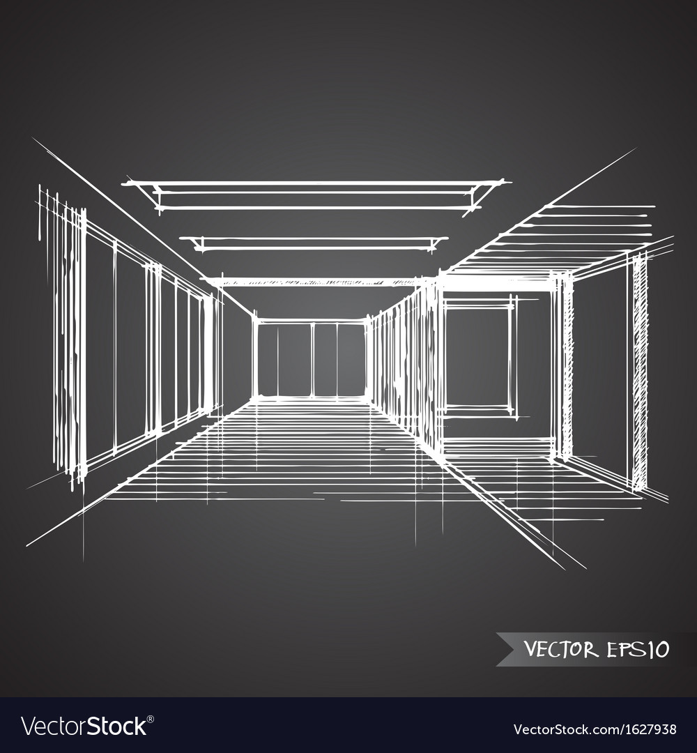 Empty room of interior design royalty free vector image for Interior design images vector