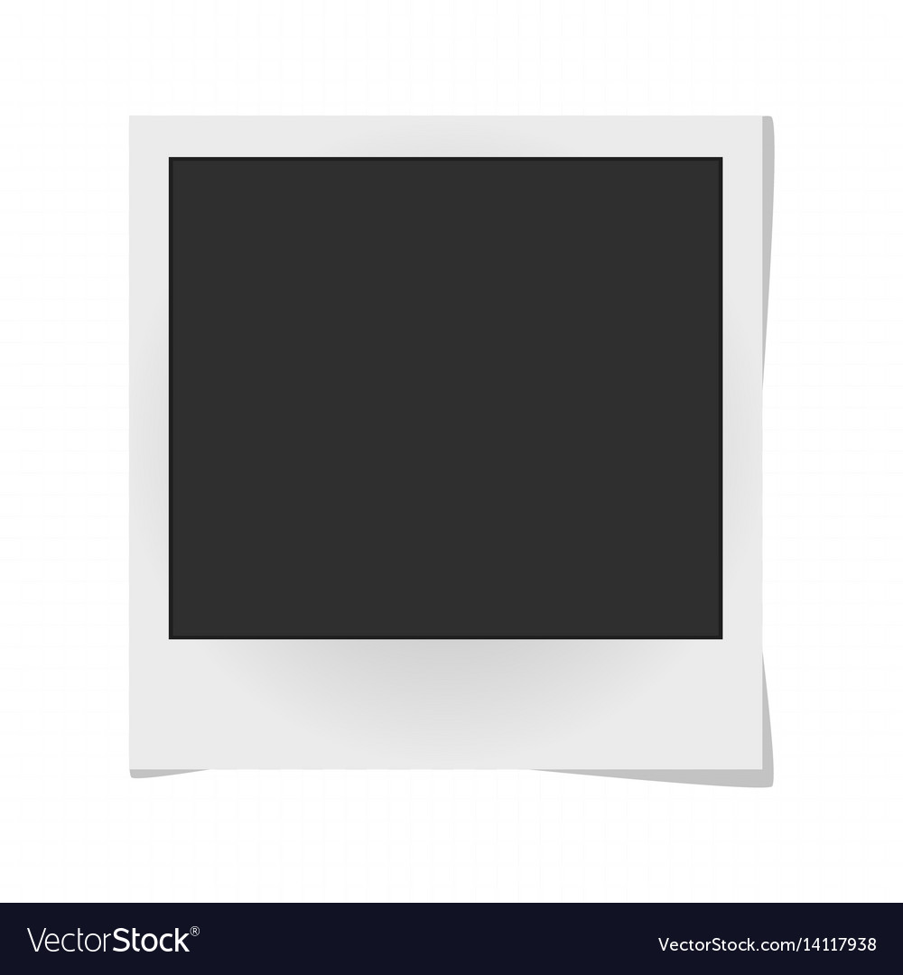 Realistic photo frame isolated on white template vector image