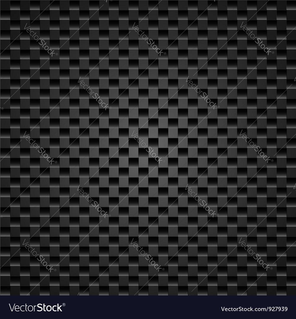 Realistic dark carbon vector image