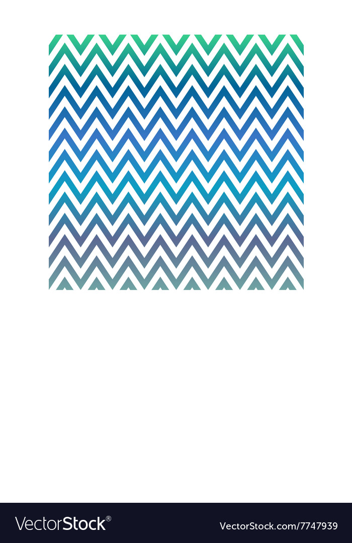 Blue and green chevron pattern background vector image