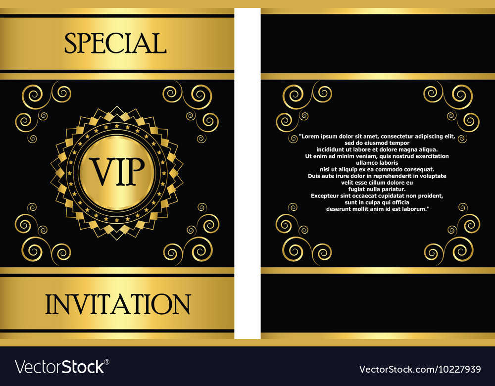 Vip invitation card template royalty free vector image vip invitation card template vector image stopboris Image collections