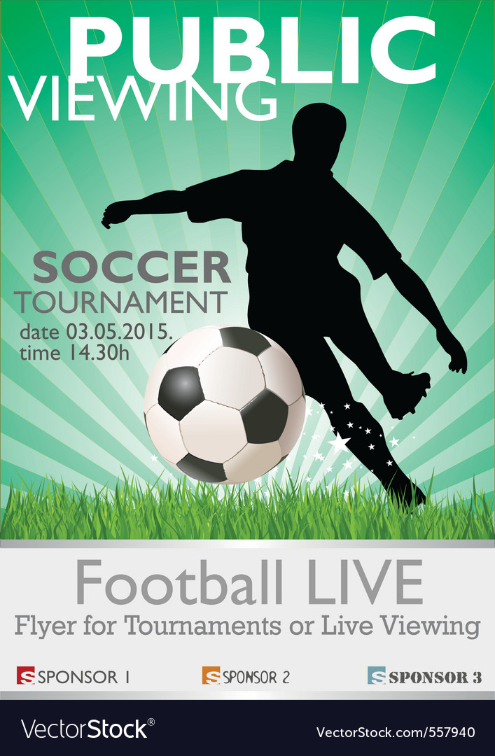 Soccer tournament vector image