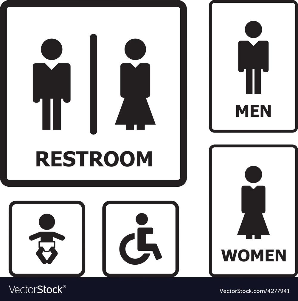 Bathroom Sign Vector restroom sign royalty free vector image - vectorstock