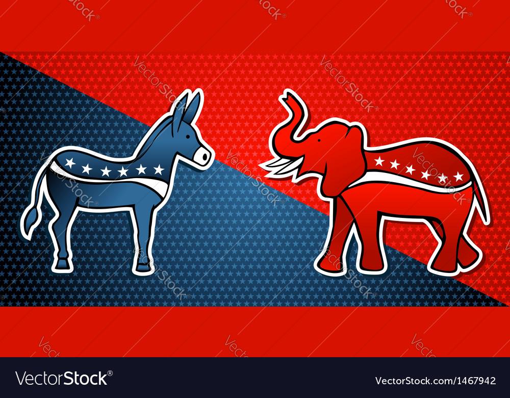 Democratic Republican party vector image