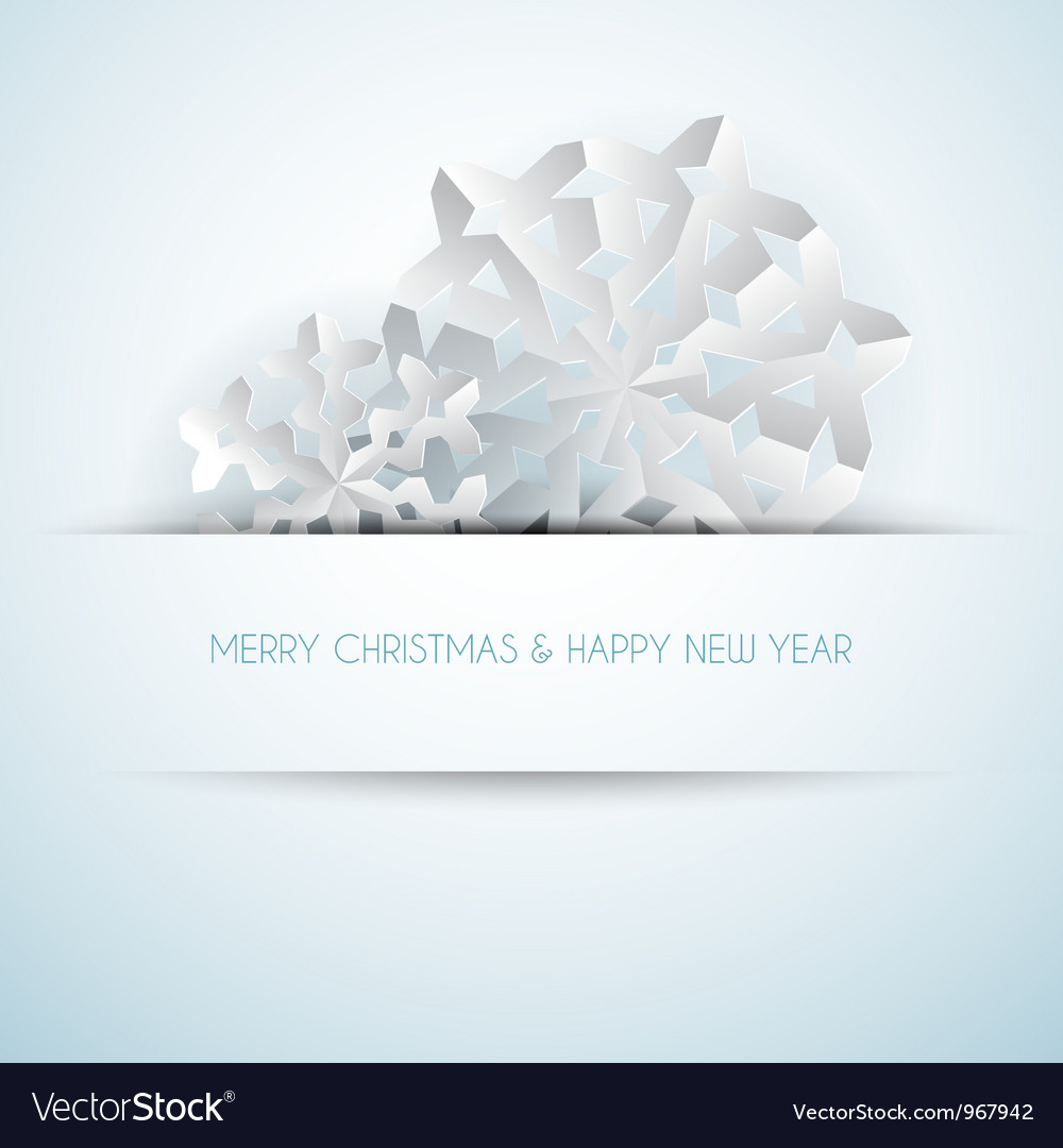 Paper christmas snowflakes vector image