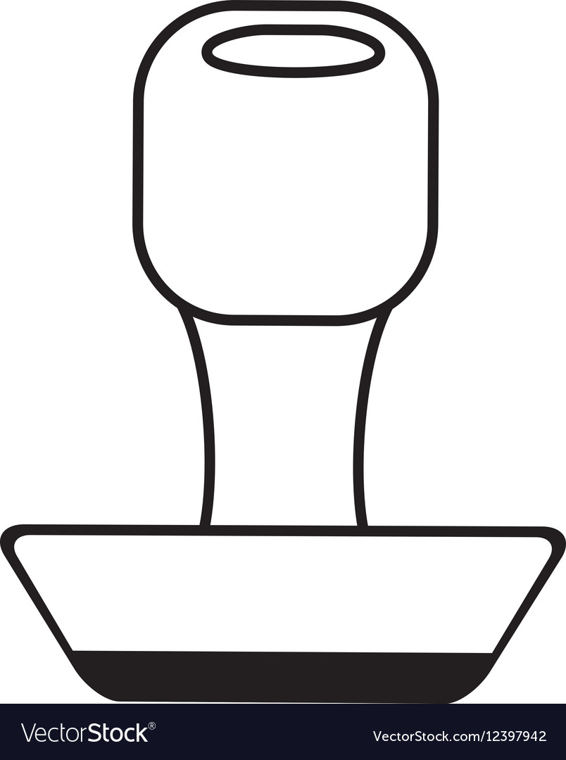 Rubber stamping supplies outline vector image