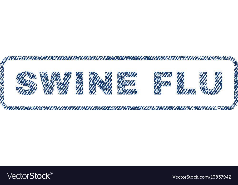 Swine flu textile stamp vector image