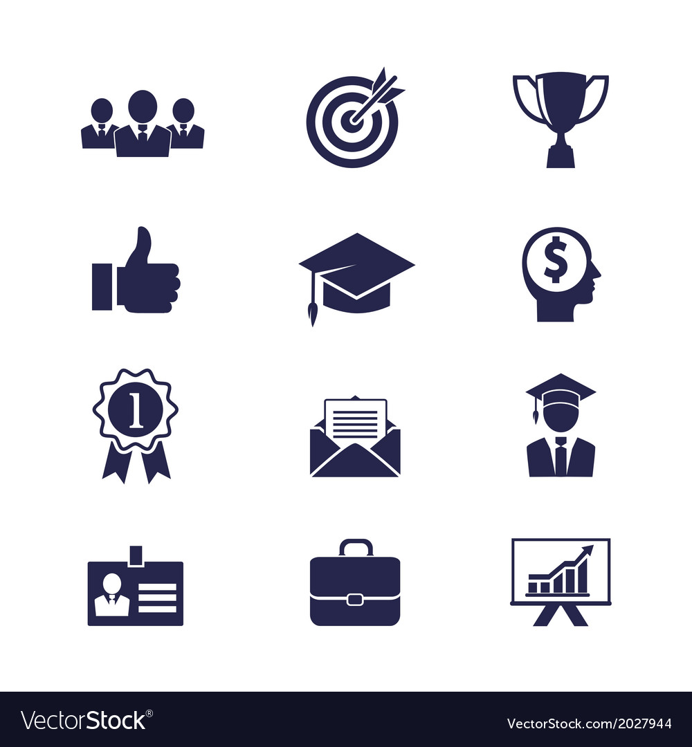 business career icons royalty free vector image