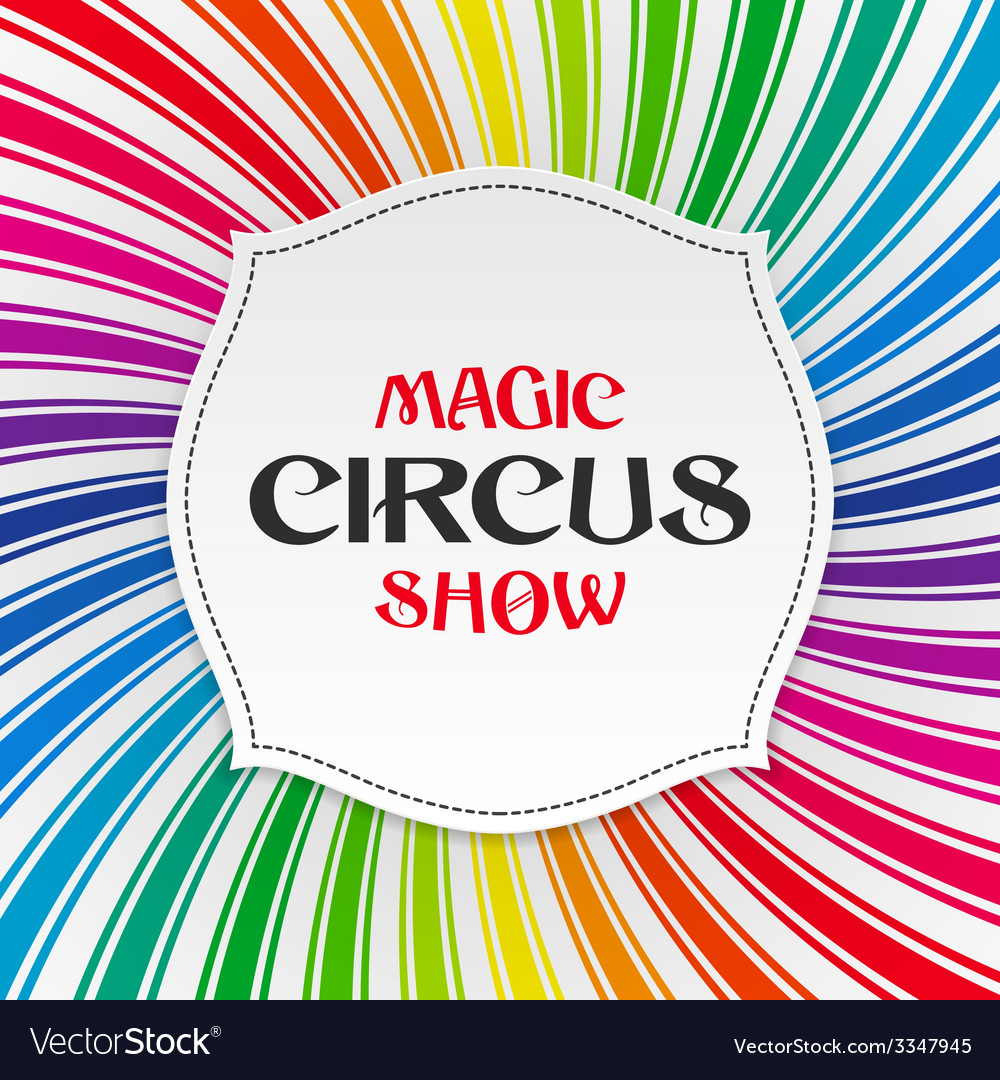 Magic Circus Show poster vector image