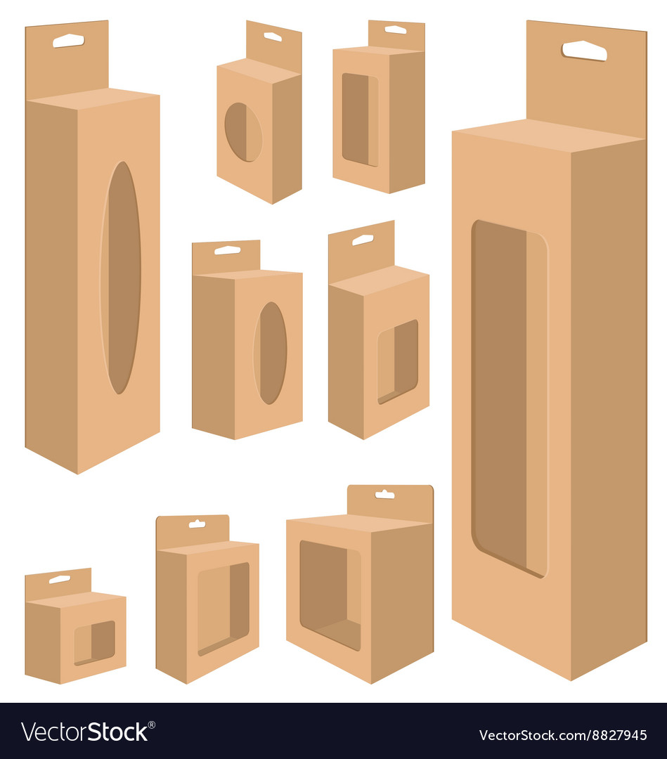 Packaging Box Design for paper on a white vector image