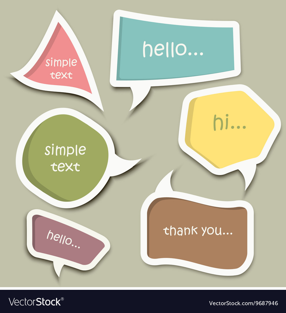 Speech Bubble Cut Paper Design Template Vector Image  Paper Design Template