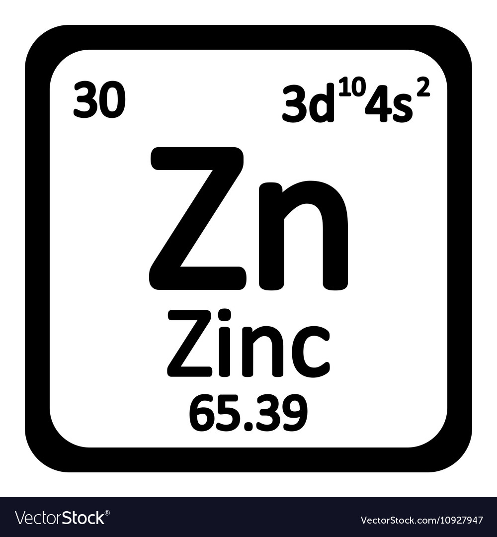 Periodic table element zinc icon royalty free vector image periodic table element zinc icon vector image buycottarizona Gallery