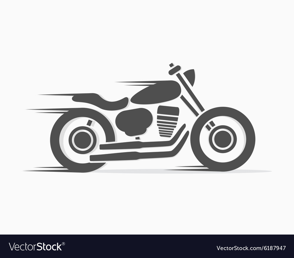 Vintage motorcycle logo template vector image