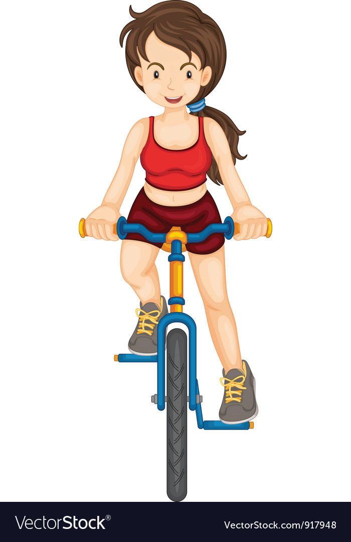 Fit woman vector image