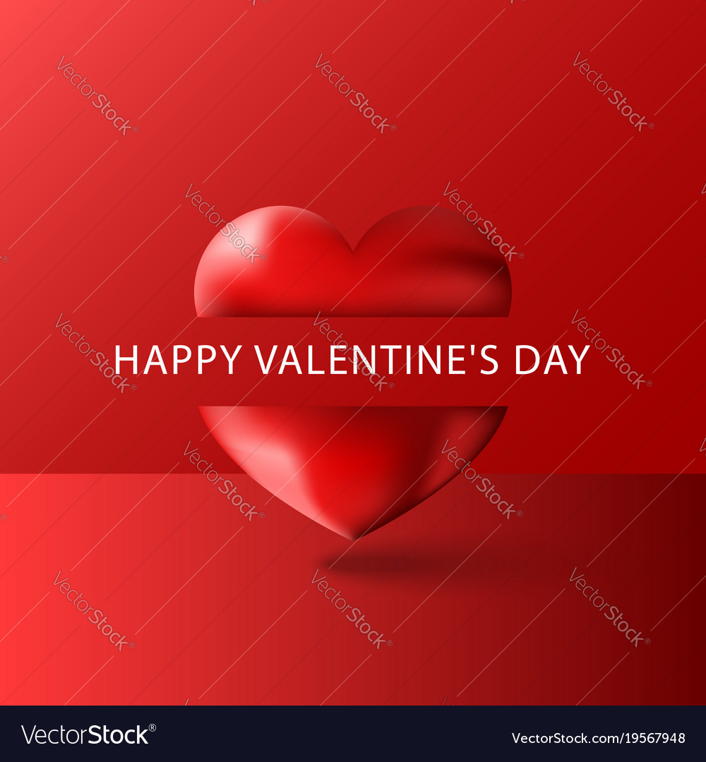 Happy valentines day text greeting card blank vector image m4hsunfo