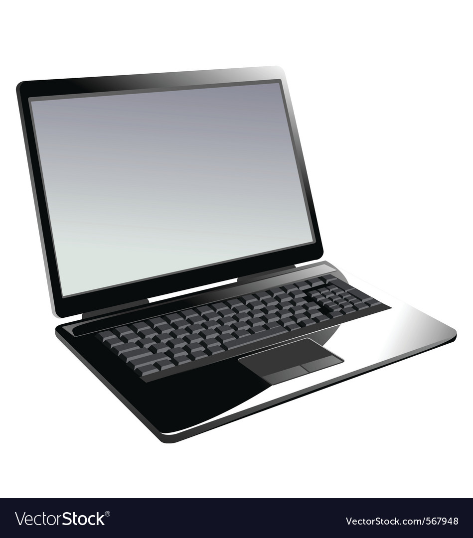 Laptop computer vector image
