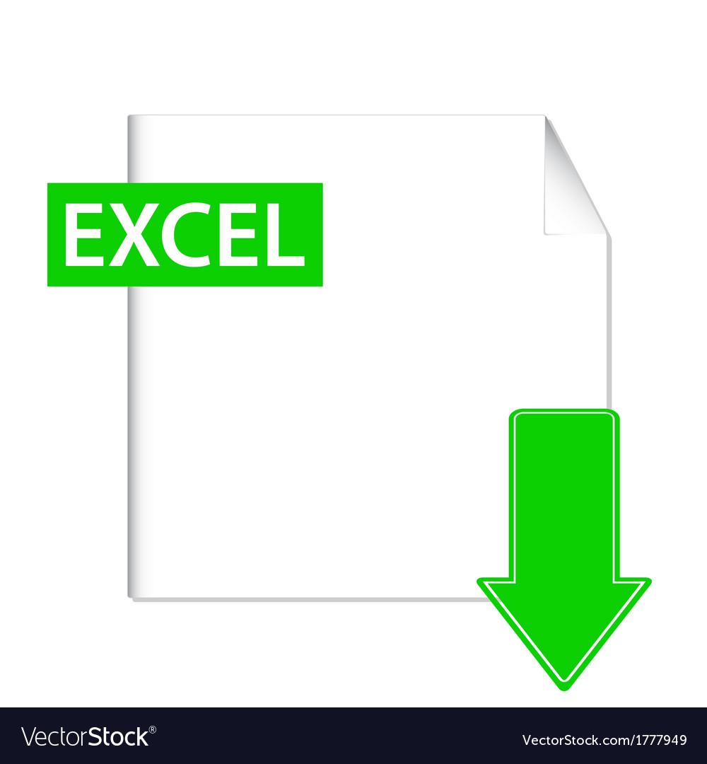 Excel icon vector image