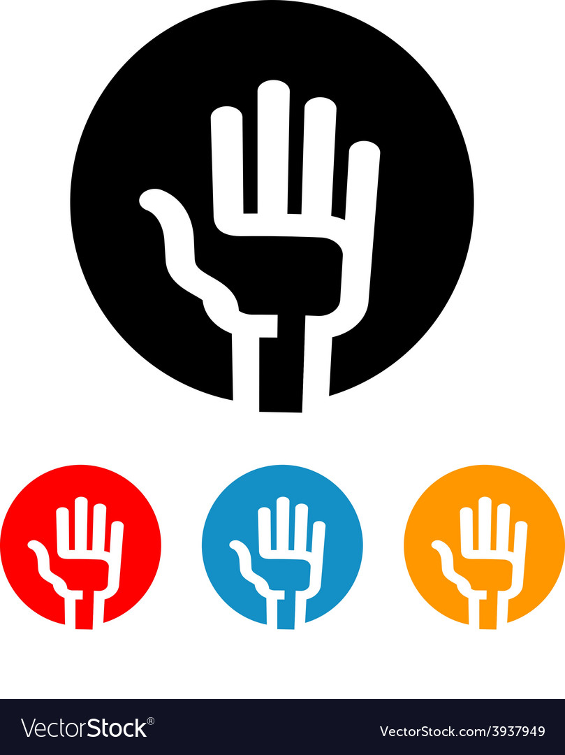 Hand logo design template vote or Palm vector image