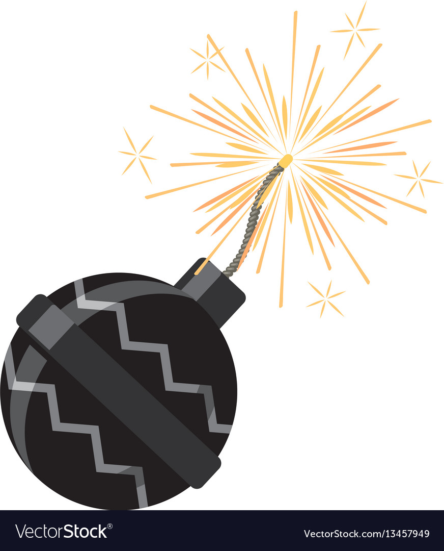 Set of fireworks pyrotechnic devices for festival vector image