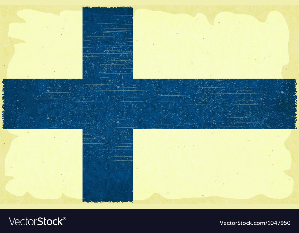 Finnish flag Vector Image