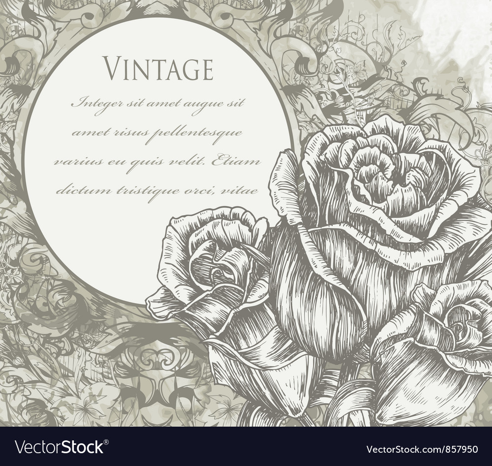 Roses with vintage background