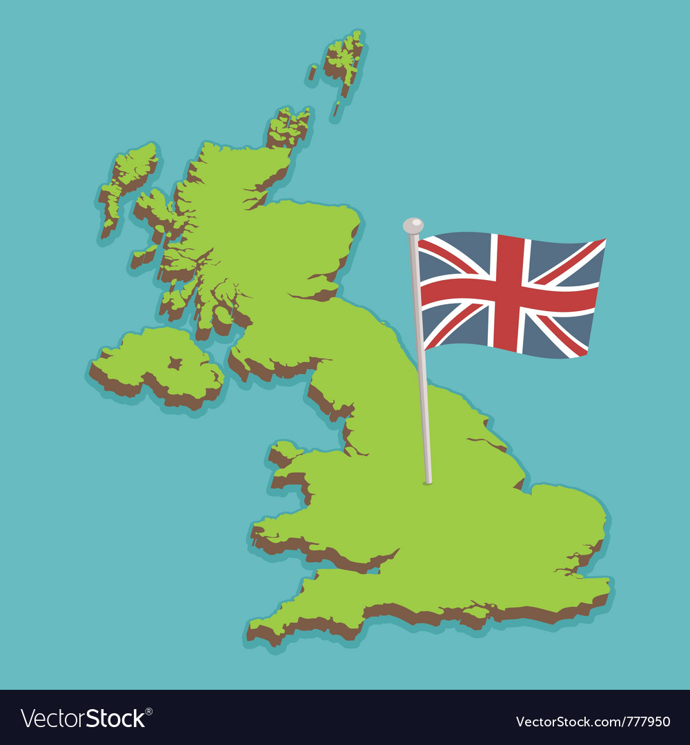 Map Of United Kingdom Royalty Free Vector Image - United kingdom map
