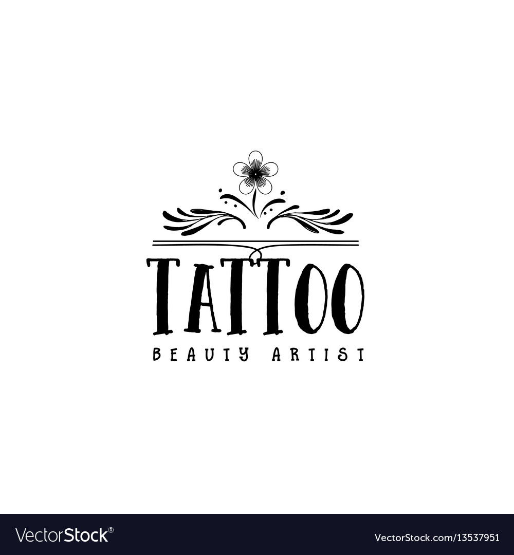 Badge for small businesses - beauty salon tattoo vector image
