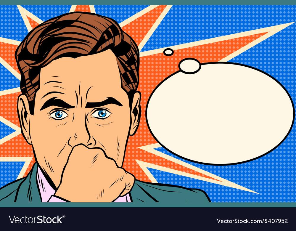 Businessman thinker man vector image
