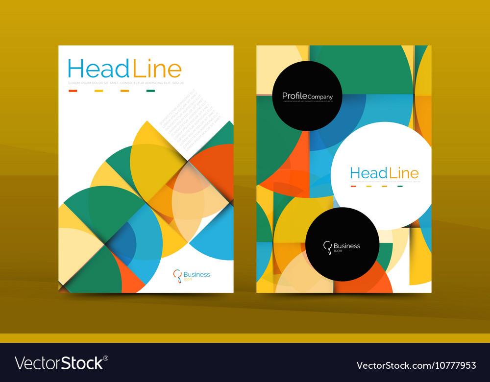 Business Company Profile Brochure Template Vector Image - Company profile brochure template