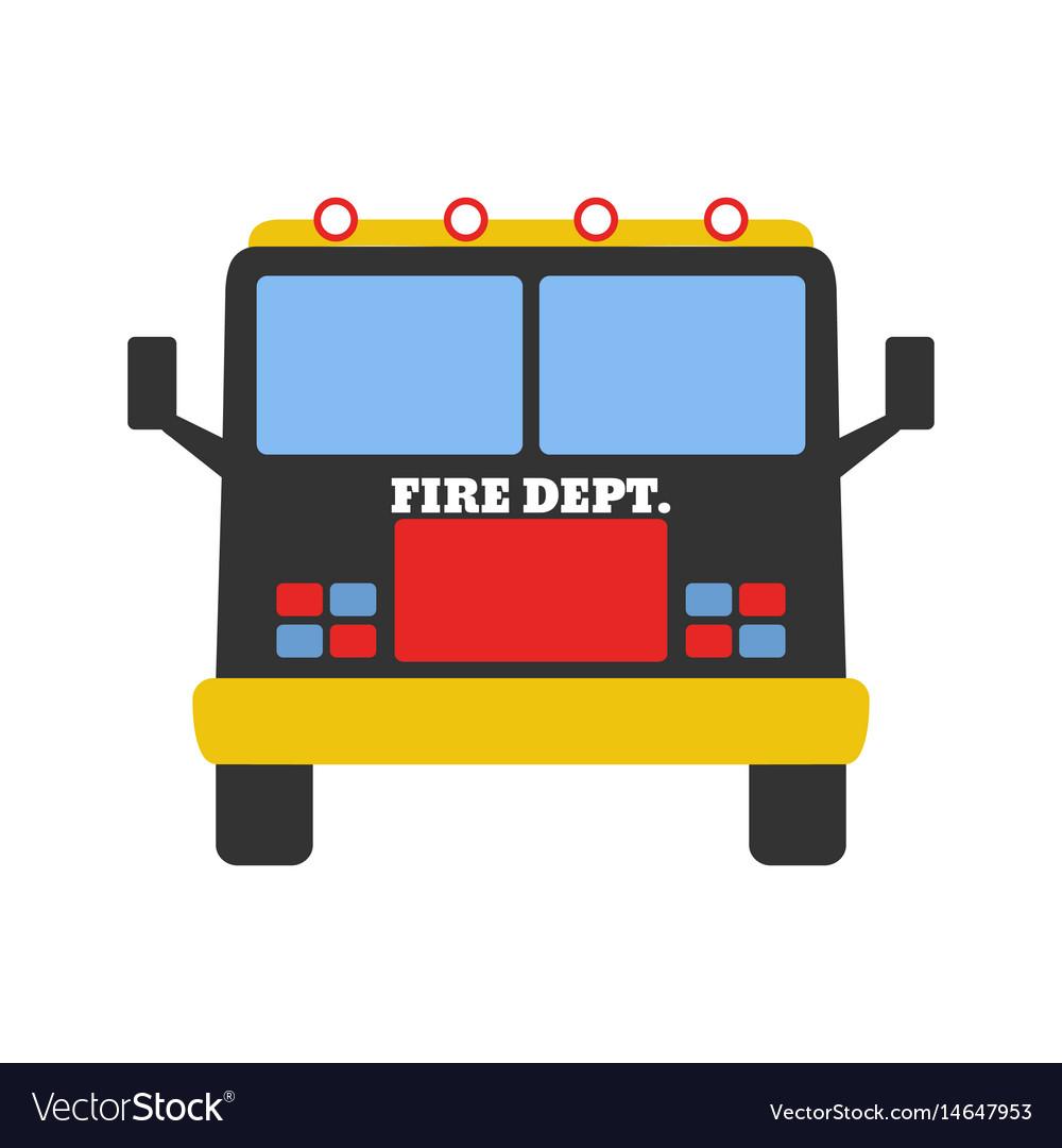 Fire car fire departament equipment icons vector image