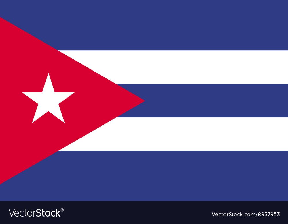 Kuba flag image vector image