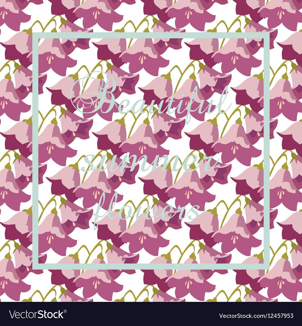 Vintage Card with Watercolor Geranium flower vector image