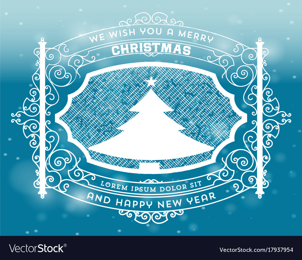 Christmas greeting card background vintage vector image christmas greeting card background vintage vector image kristyandbryce Choice Image