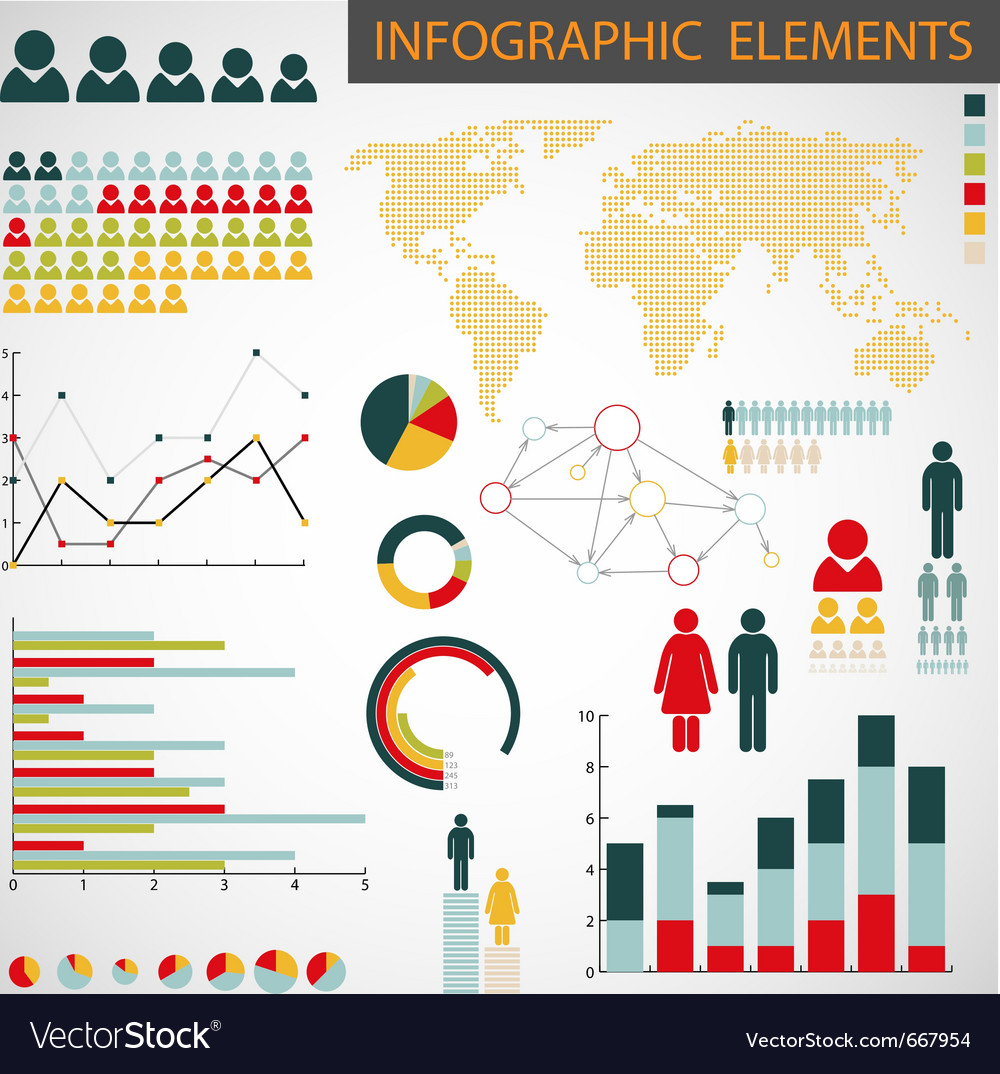 Collection of infographics vector image