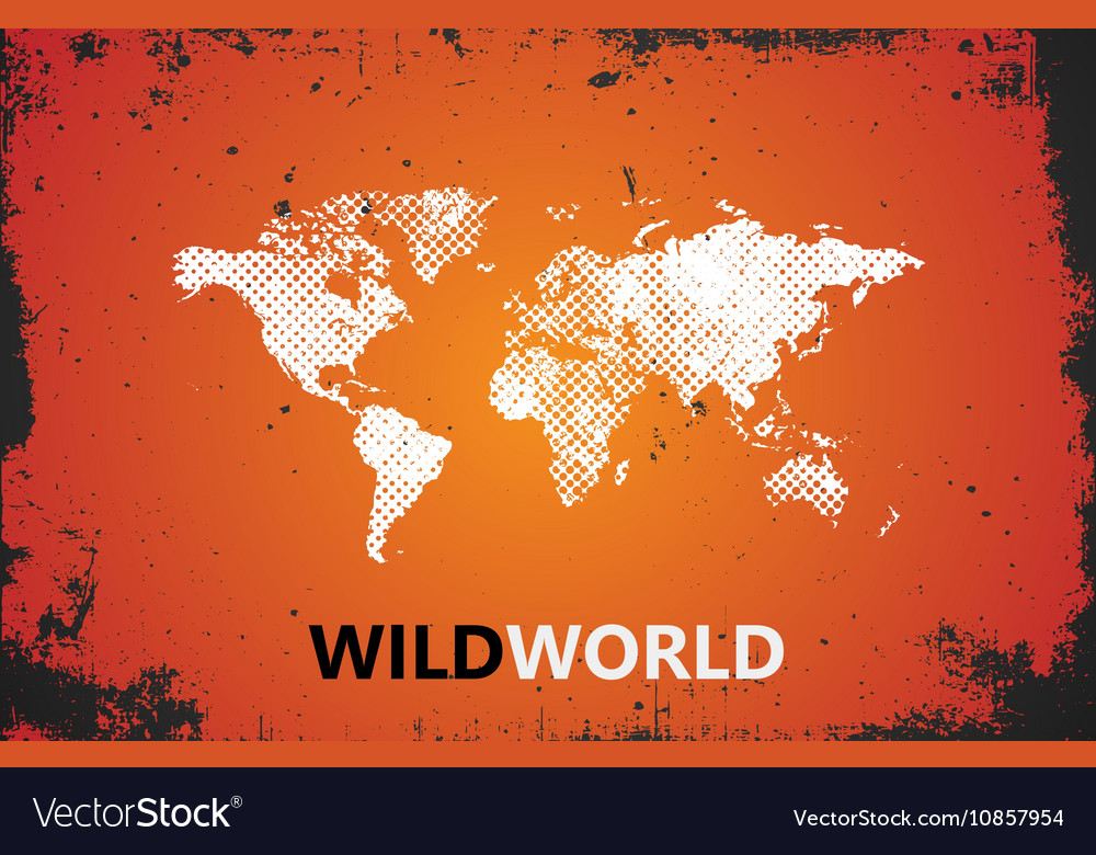 World map wild world poster grunge royalty free vector image world map wild world poster grunge vector image gumiabroncs Images