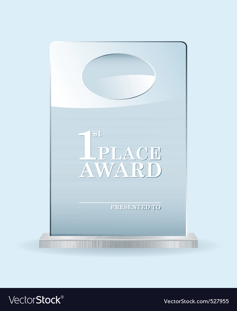 Glass award vector image