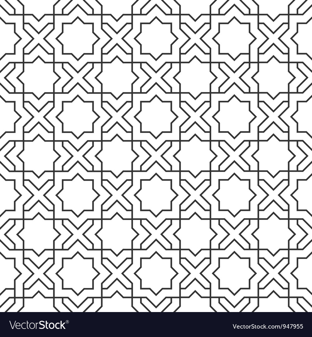 Delicate pattern in islamic style vector image