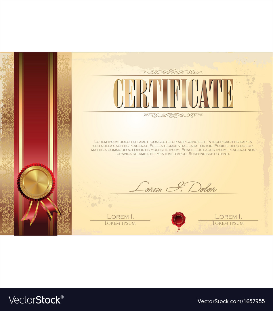 Certificate template royalty free vector image certificate template vector image yadclub Images