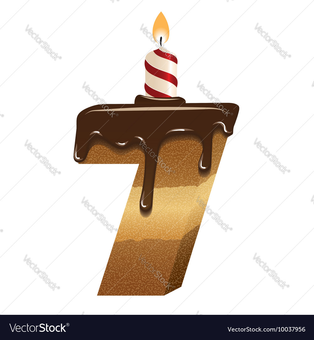 Birthday cake font number seven royalty free vector image birthday cake font number seven vector image biocorpaavc