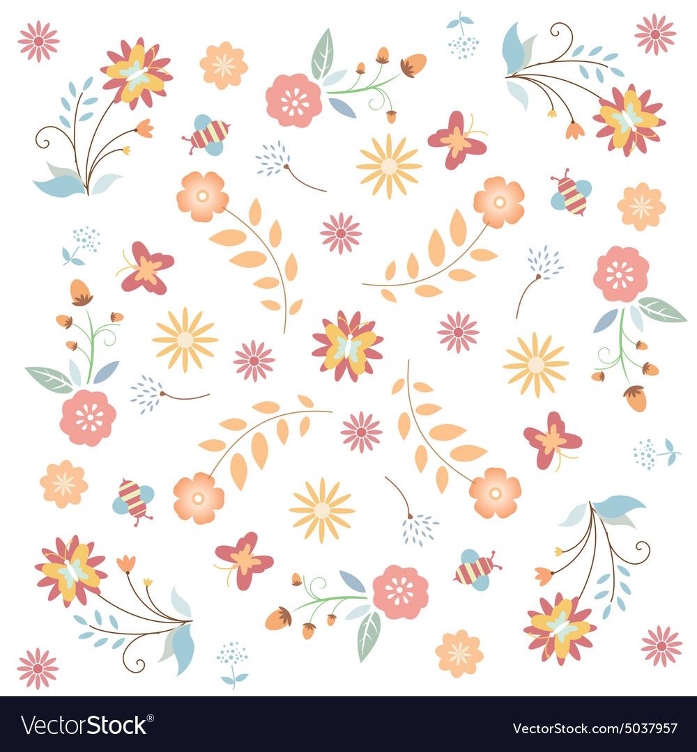 Floral flower texture vector image