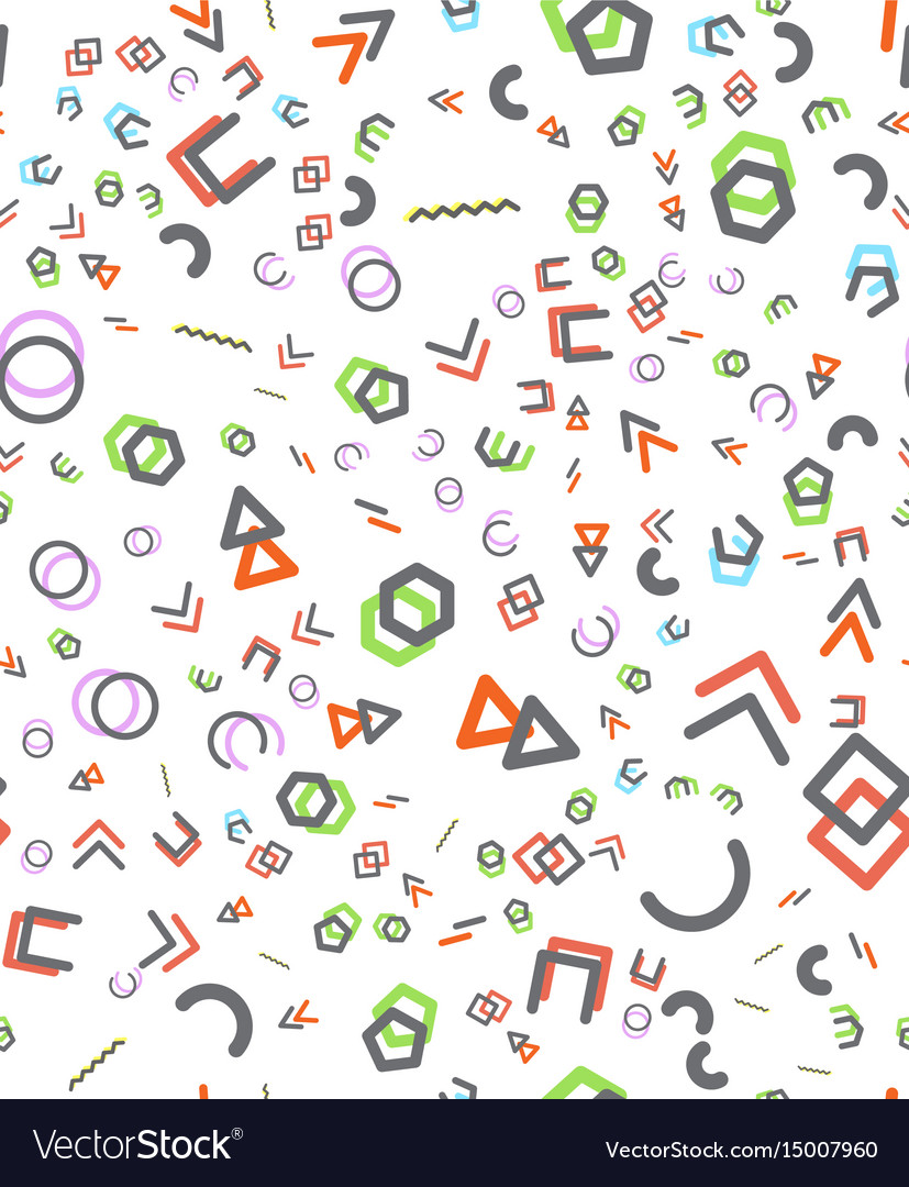 Seamless primitive geometric patterns trendy vector image