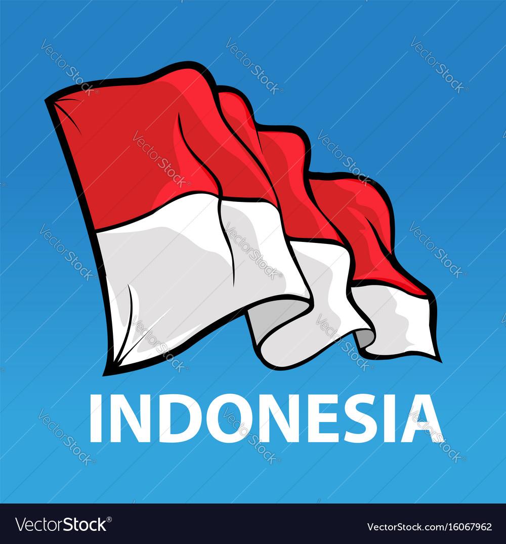 Bendera sansaka merah putih vector image