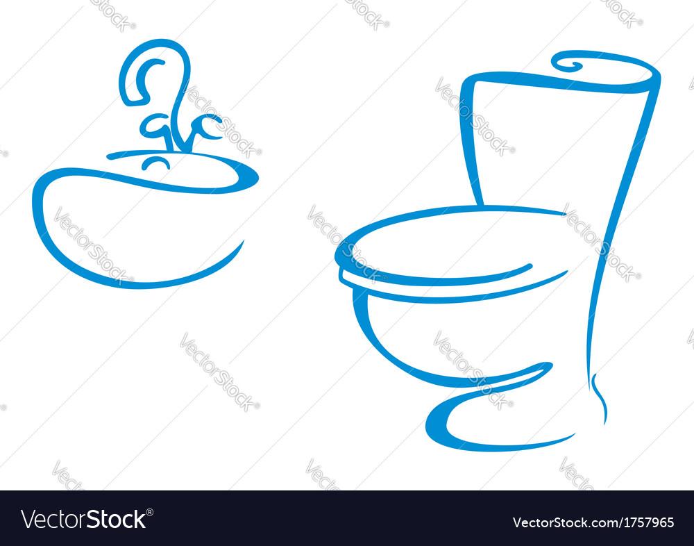 Bathroom symbols Royalty Free Vector Image - VectorStock
