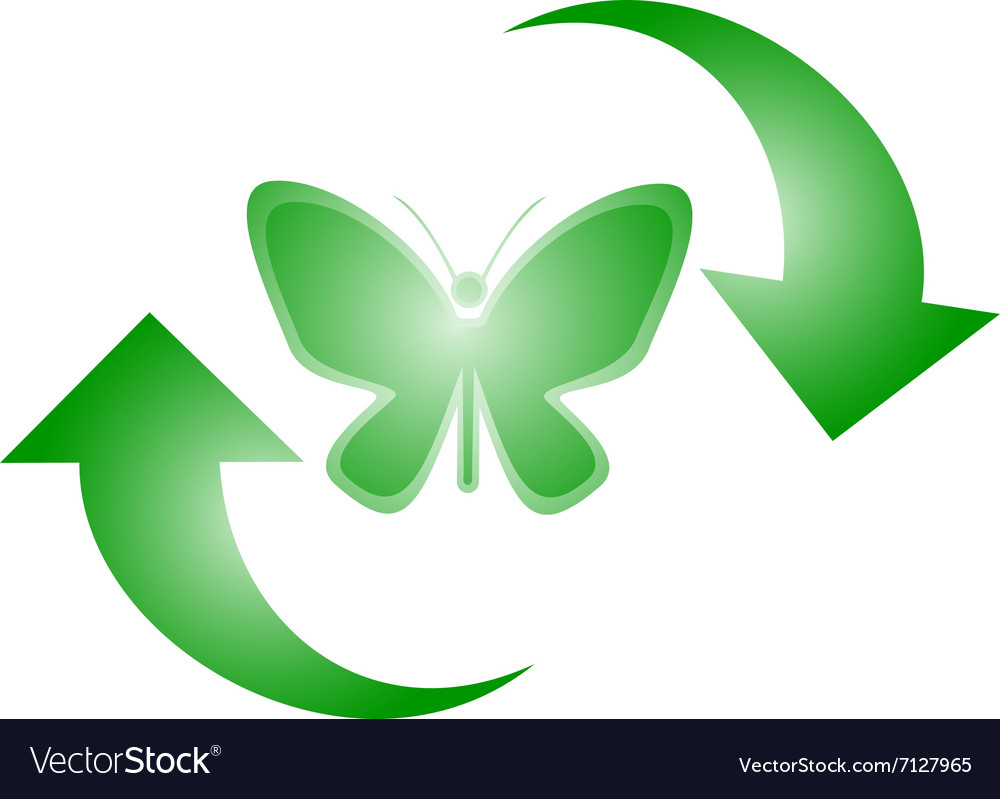 Butterfly recycle symbol royalty free vector image butterfly recycle symbol vector image biocorpaavc Image collections