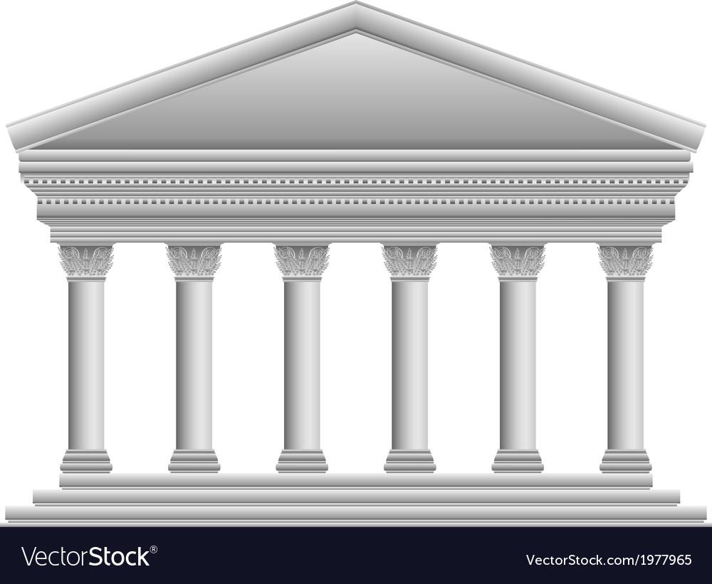 Corinthian temple vector image