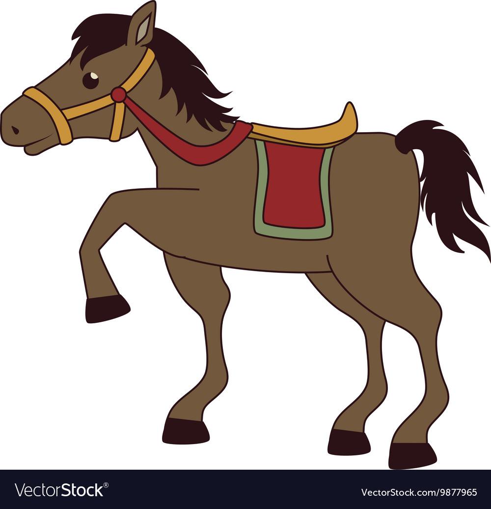 Horse saddle cartoon vector image