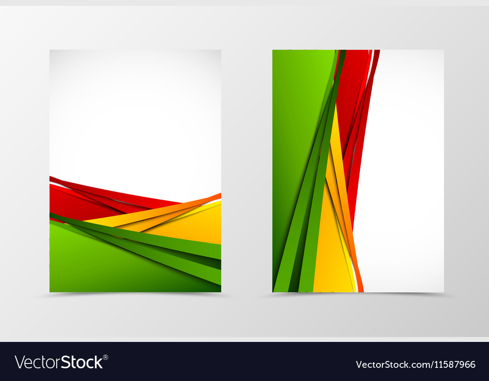 Front and back wavy flyer template design vector image