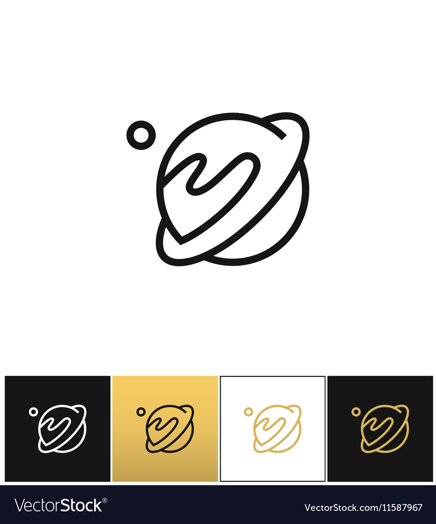 Linear planet icon vector image